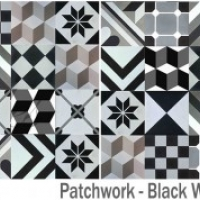 Gạch bông vuông Black White