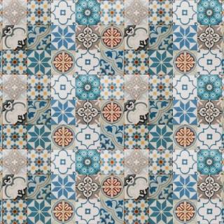 Gạch bông tổng hợp tông màu trắng xanh dương